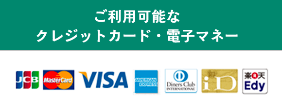 使えるクレジットカード電子マネー